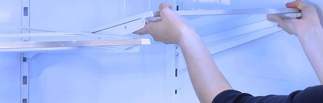 стеклянная полка для холодильника