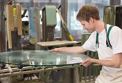 Обработка круглого стекла