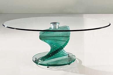 Креативный стеклянный стол