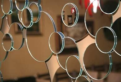 Маленькие круги из стекла