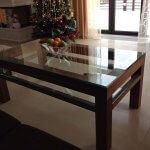 Покрывное стекло на прямоугольный стол